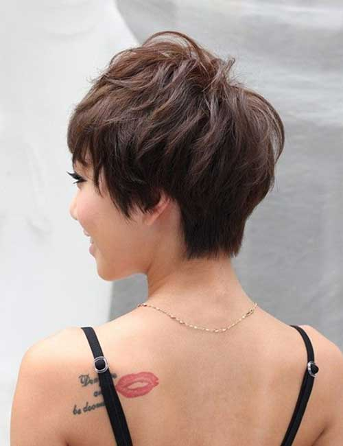 Short Stacked Wedge Pixie Haircut