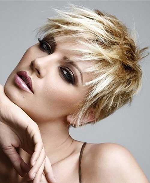 Short Stacked Wedge Pixie Style Cut