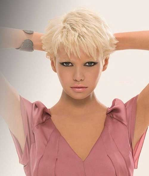 Short Straight Pixie Hair Cuts Round Faces
