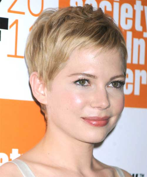 Short Straight Pixie for Round Faces Hairstyles