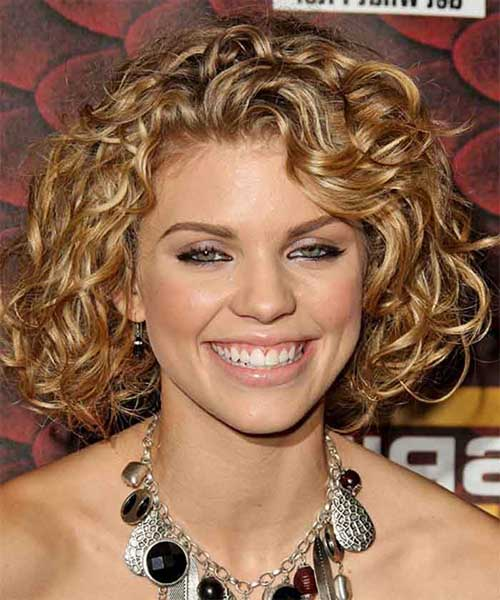 Short Thick Curly Bob Hairstyles