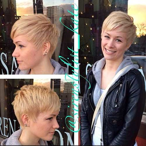 Short Trendy Fine Pixie Haircuts