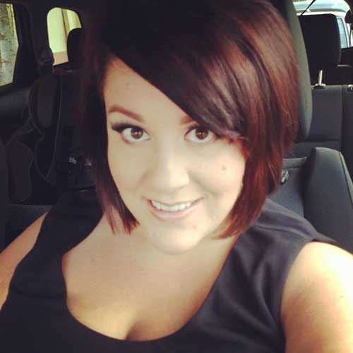 Side Swept Red Bob Hairstyles