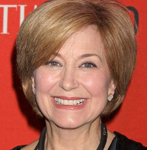 Side Swept Short Bob Hair for Women Over 60