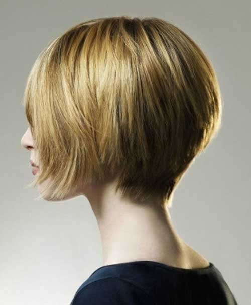 Simple Bob Short Haircuts Side View
