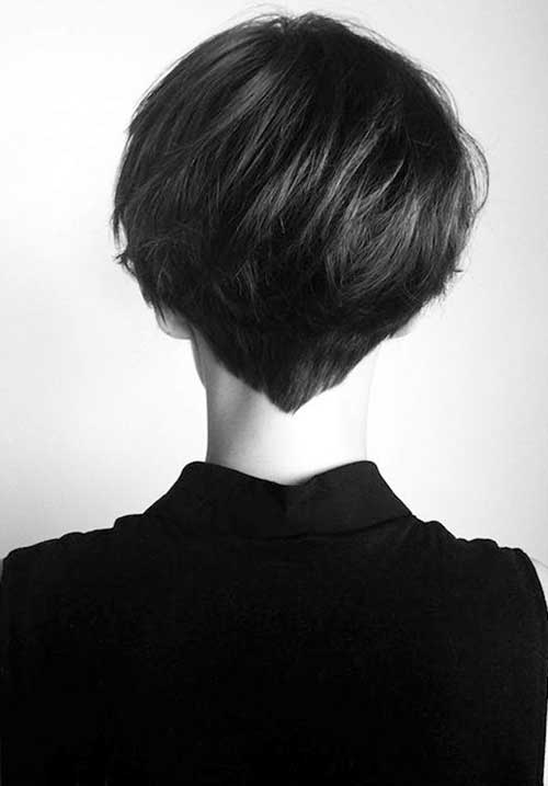 Simple Pixie Short Hair Back View
