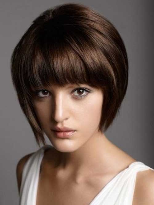 Straight Blunt Bob with Bangs for Thick Hair