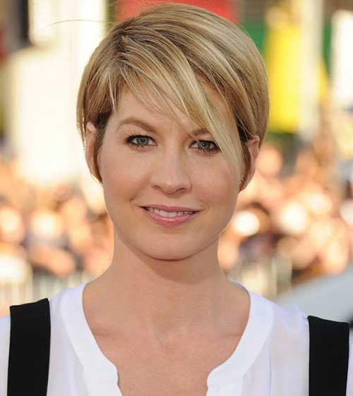 Straight Long Pixie Hairstyles for Round Faces