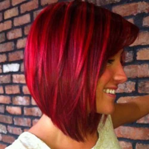 Straight Red Bob Haircuts