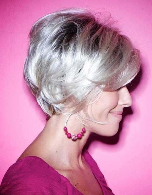 Best Straight Short Hair Cut for Over 50