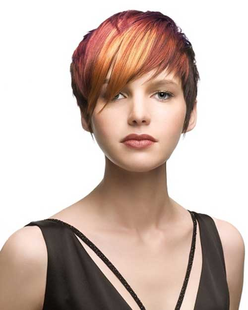 Straight Bangs Short Hairstyles for Round Faces