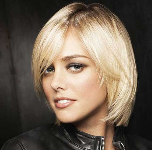 Straight Thin Bob Layered Short Hairstyle Ideas