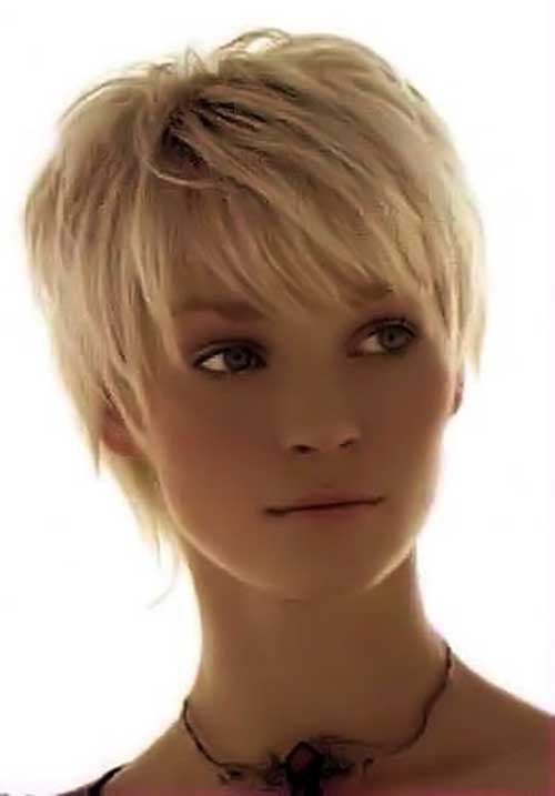 Textured Blonde Pixie Haircuts
