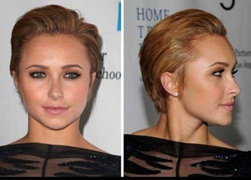 Textured Blonde Slicked Back Bob Haircuts