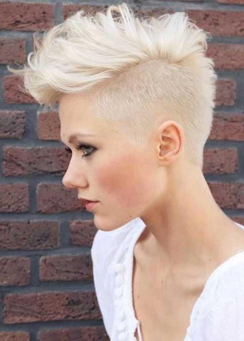 Textured Pixie Haircuts Ideas with Undercut