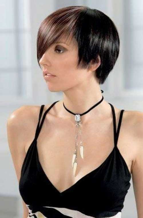 Thin Straight Short Hair Idea for Women