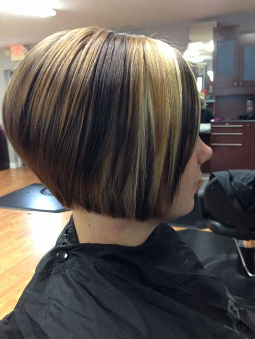 Trendy Short Hair Back View