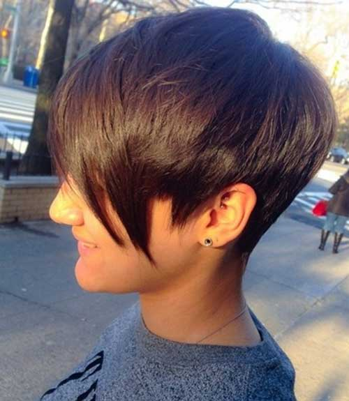Trendy Short Pixie Haircuts with Long Bangs