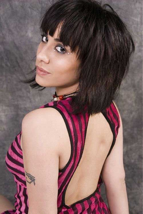 Very Short Bob Haircuts with Bangs for Straight Thick Hair