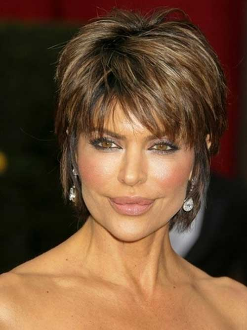 Very Short Brown Layered Pixie Hair for Women