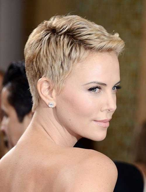 Very Short Cute Blonde Pixie for Women