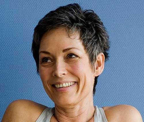 Very Short Grey Hair Ideas for Women