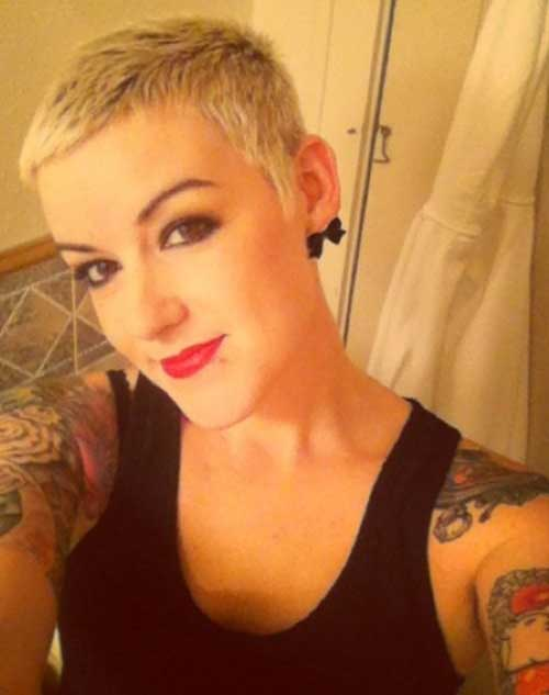 Very Short Pixie Cropped Blonde Hairstyles