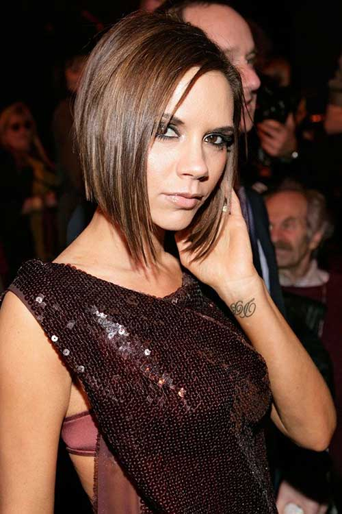 Victoria Beckham Brown Bob Hairstyles