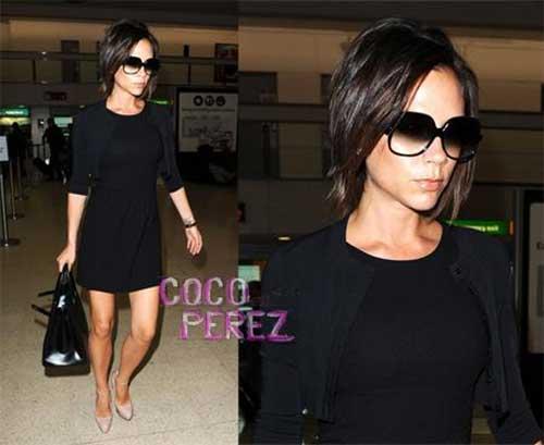 Victoria Beckham Dark Bob Hairstyles