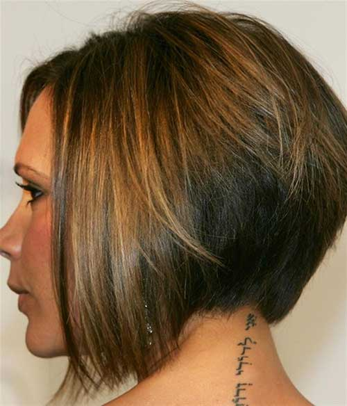 Victoria Beckham Graduated Bob Hairstyles Back View