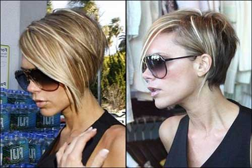 Victoria Beckham Highlighted Bob Hairstyles