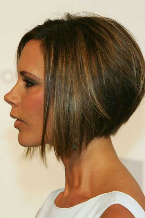 Victoria Beckham Inverted Bob Hairstyles Side View