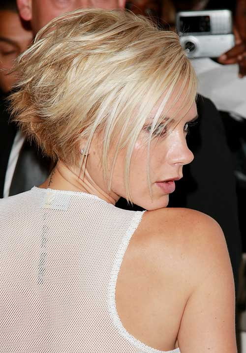 Victoria Beckham Layered Blonde Bob Hairstyles