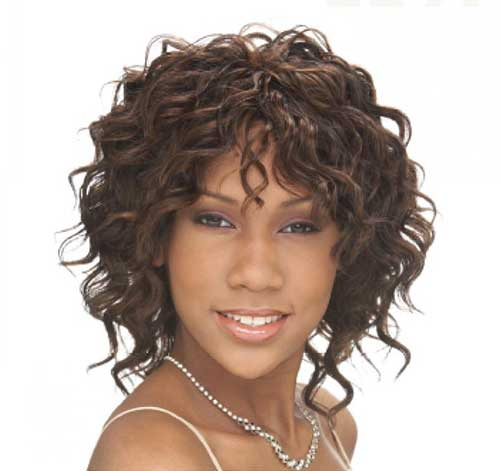 Wavy Curly Short Weave Hairstyles
