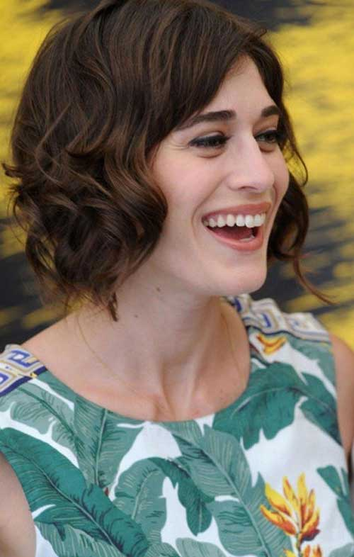 Wavy Short Brown Haircut Ideas