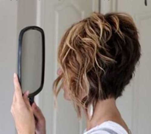 Wavy Short Haircut Ideas Back View