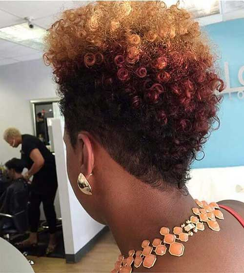 Short Natural Hairstyles for Black Women-12