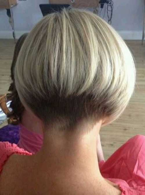Graduated Bob Haircut Back View Short Hairstyle 2013
