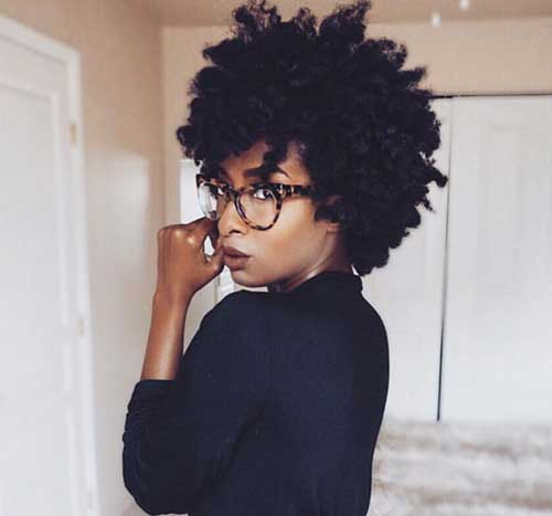 Short Natural Hairstyles for Black Women-15