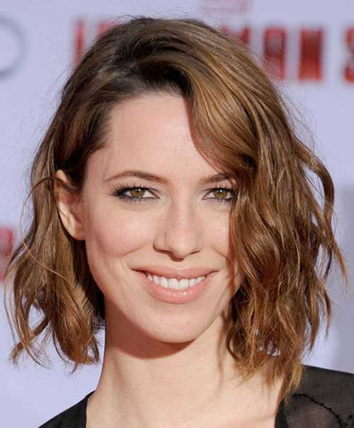 how to style short wavy hair 25 best wavy bob hairstyles 1553 | 24.Wavy Bob Hairstyle
