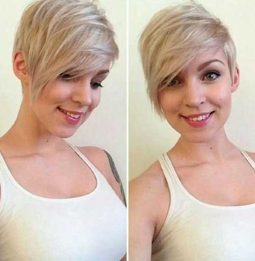 Short Haircuts for Round Faces-25