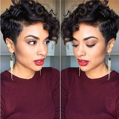 Surprising 25 Chic Curly Short Hairstyles Short Hairstyles 2016 2017 Short Hairstyles For Black Women Fulllsitofus