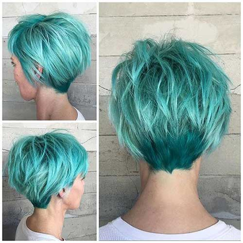 20 nice hair color for short hair short hairstyles 2017 for Cut and color ideas