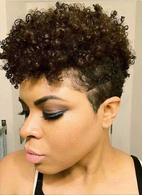 short haircut for black women with natural hair 15 best hairstyles for black 4664 | 7. Short Natural Hairstyle for Black Women