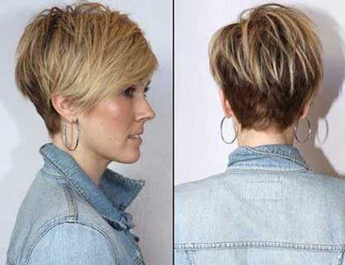 Short Haircuts for Women Over 40-7