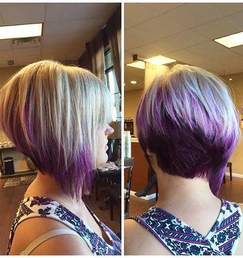 Hair Color Underneath Angled Bob