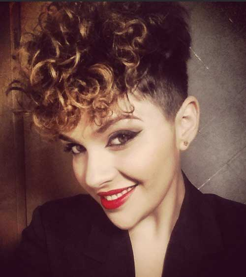 Surprising 20 Very Short Curly Hairstyles Short Hairstyles 2016 2017 Hairstyles For Women Draintrainus