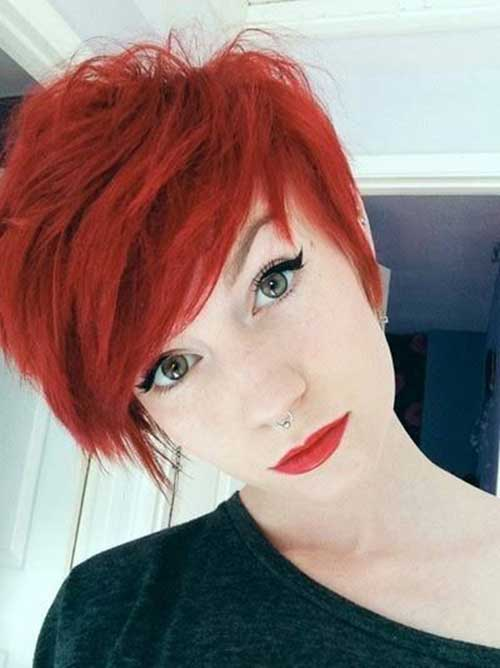 Red Pixie Cut-12