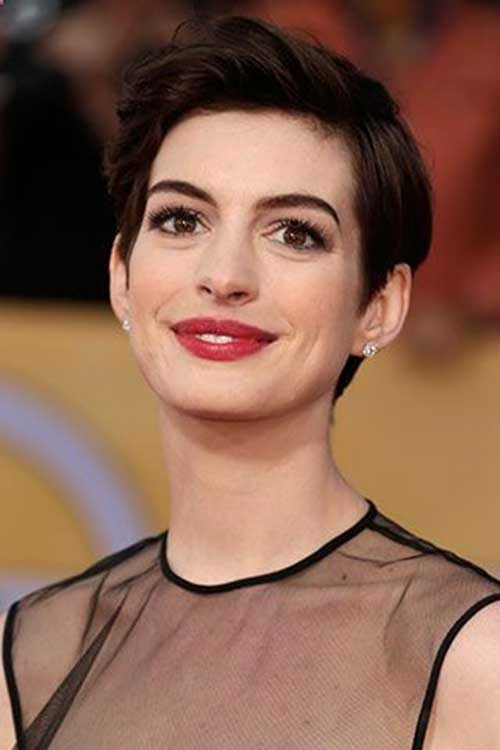 Anne Hathaway Cool Pixie Hair