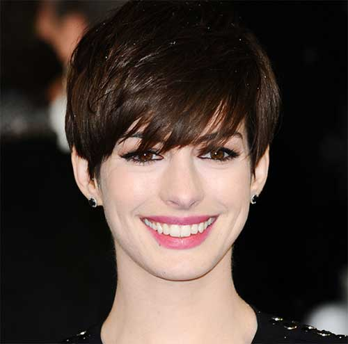 Anne Hathaway Dark Short Pixie Ideas
